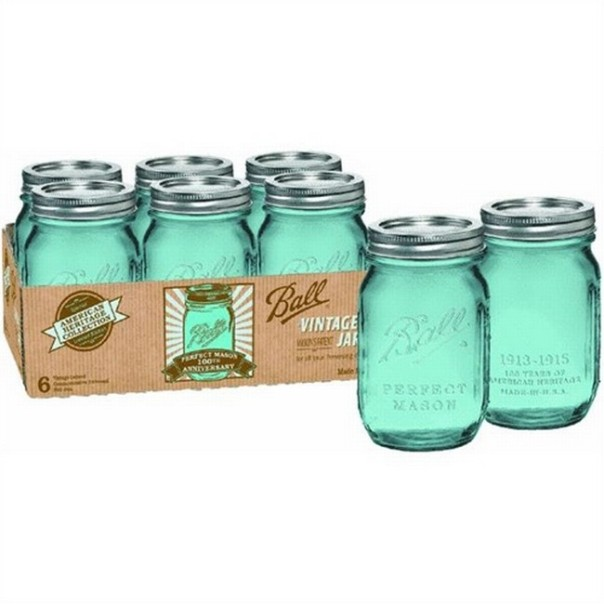 ball heritage collection blue pint jars