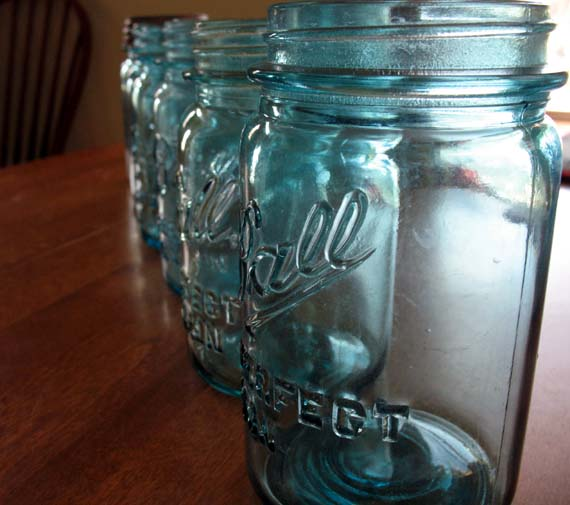 vintage perfect mason jar line up